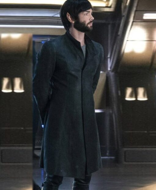 TV Series Star Trek Discovery Ethan Peck Trench Coat