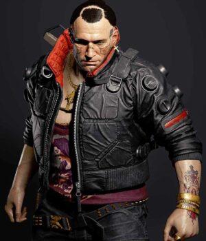 The Cyberpunk 2077 Jackie Welles Black Jacket Front