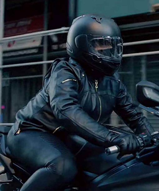 The Equalizer Robyn McCall Leather Biker Jacket