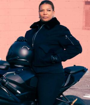 The Equalizer Queen Latifah Cotton Black Jacket