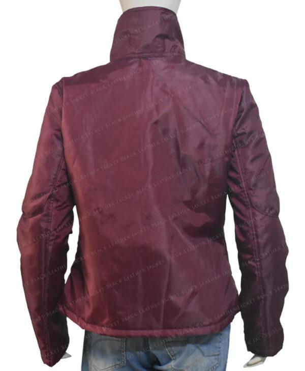 The Equalizer Queen Latifah 2021 Burgundy Jacket Back