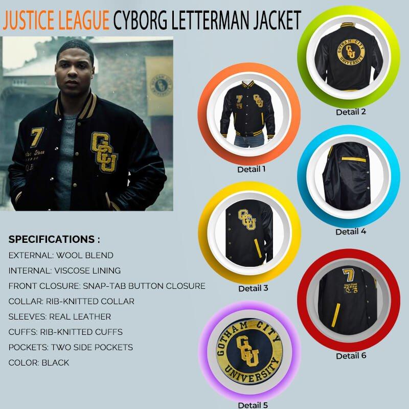 Justice League Cyborg Gotham City Jacket
