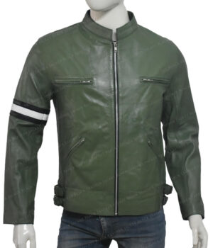 Dirk Gently Cafe Racer Green Leather Jacket