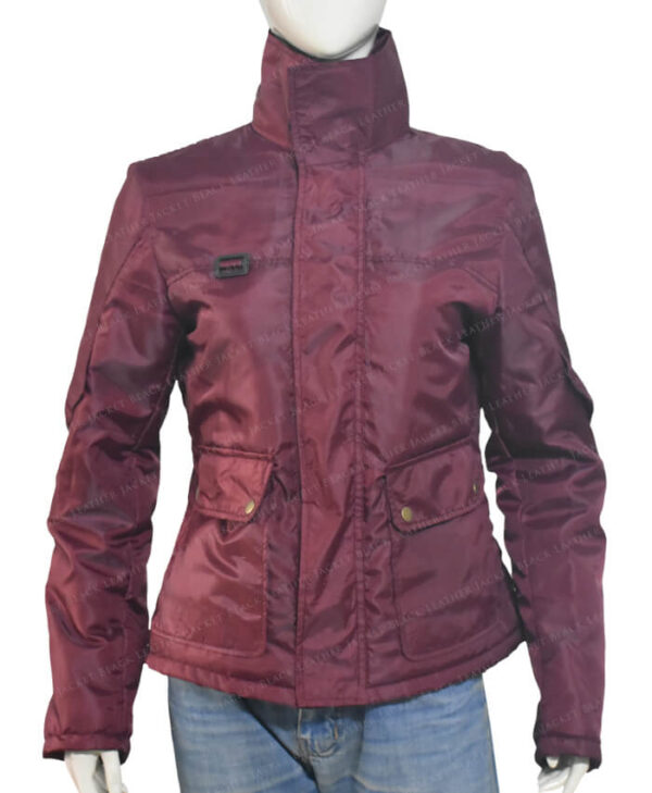 The Equalizer Queen Latifah 2021 Burgundy Jacket Close Collar