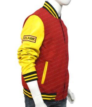 Clark Kent Crows Smallville Varsity Cotton Jacket Right