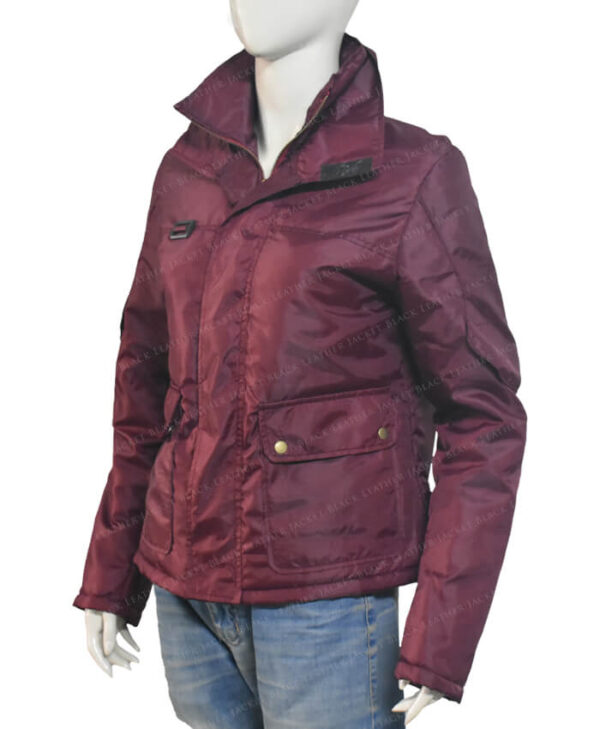 The Equalizer Queen Latifah 2021 Burgundy Jacket Right Side