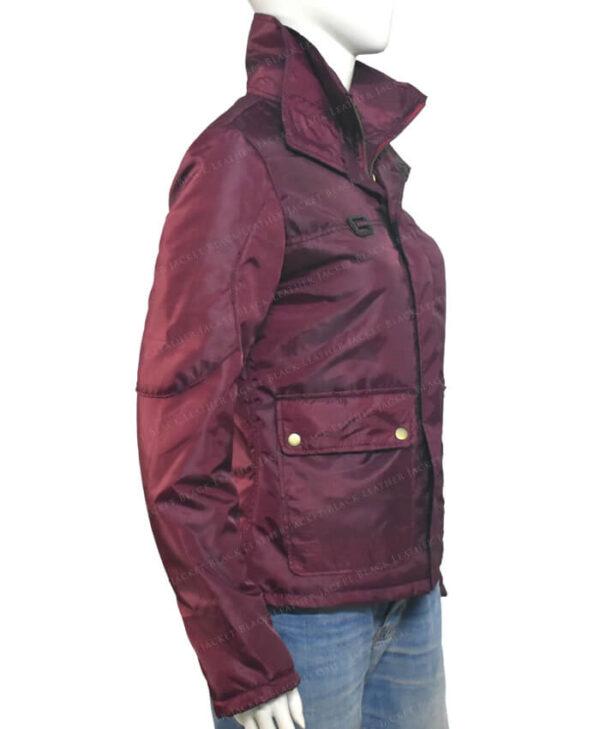 The Equalizer Queen Latifah 2021 Burgundy Jacket Side