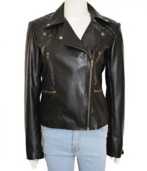 Chloe Decker Lucifer Black Biker Jacket