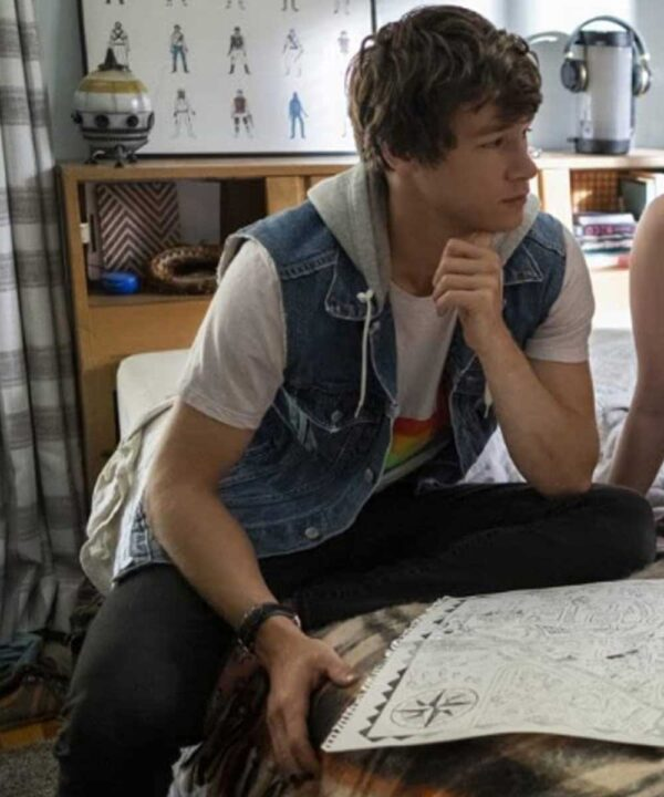 The Map of Tiny Perfect Things Mark Blue Denim Vest