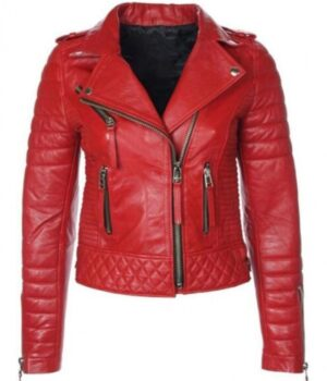 Cheryl Cole Faux Leather Red Jacket