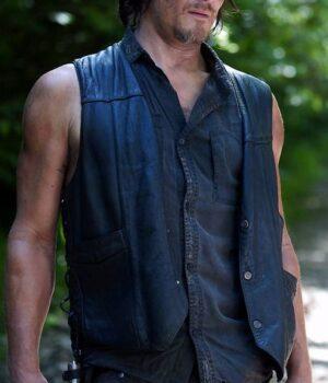 Daryl Dixon The Walking Dead Wings Leather Vest