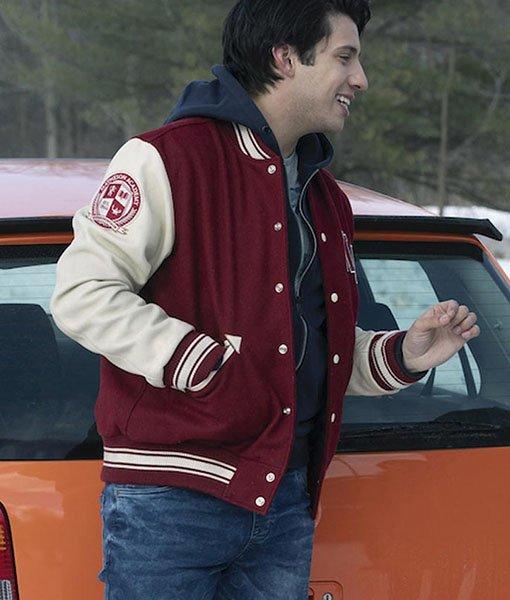 Javi Varsity Locke & Key Maroon Jacket