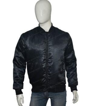 Lucifer Rising Rainbow Bomber Black Jacket Front