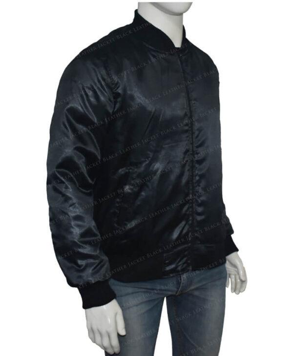 Lucifer Rising Rainbow Bomber Black Jacket Left
