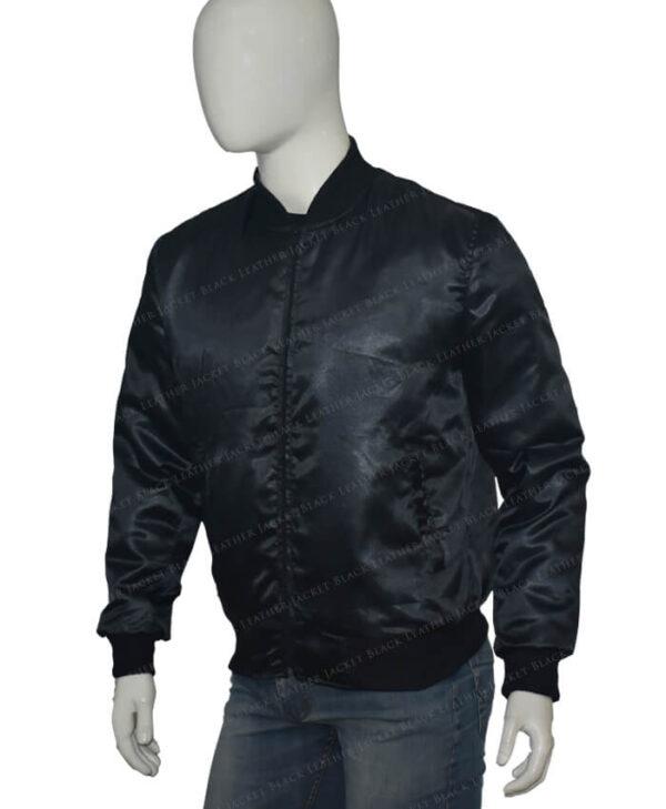 Lucifer Rising Rainbow Bomber Black Jacket Right