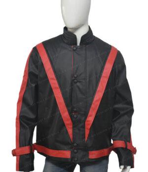 Michel Jackson Thriller Leather Black Jacket