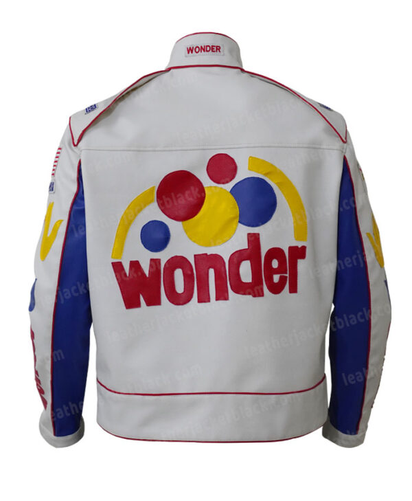 Ricky Bobby Wonder Bread Cowhide Jacket Back