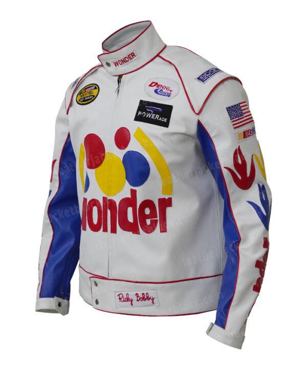 Ricky Bobby Wonder Bread Cowhide Jacket Left