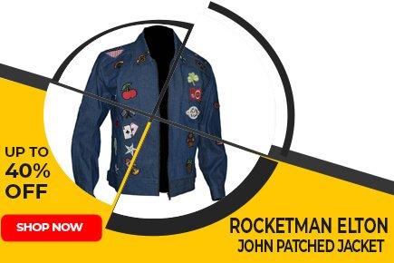 Rocketman Elton John Patched Jacket