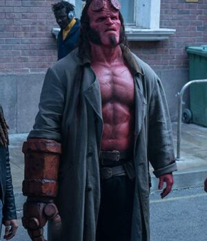 The Golden Army Hellboy Long Leather Coat
