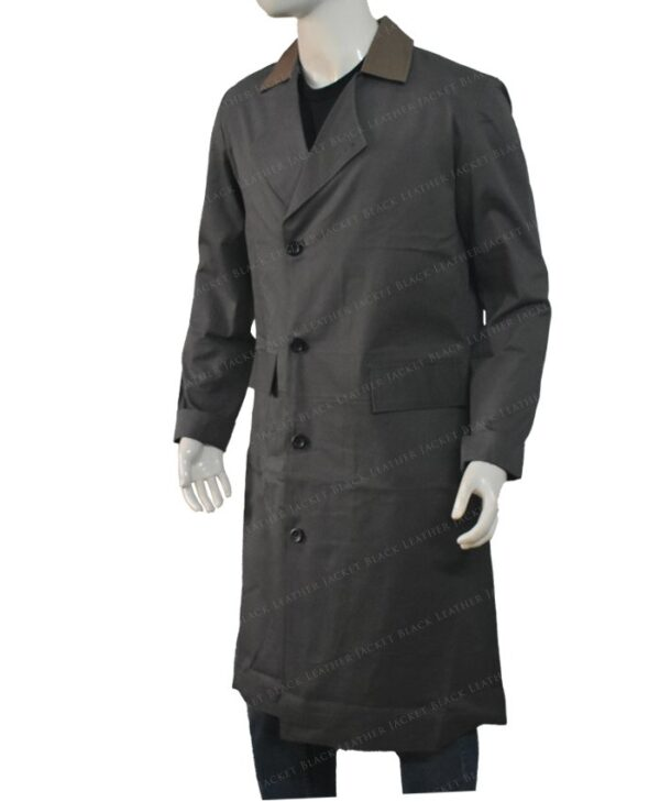 The Golden Army Hellboy Long Leather Coat Left Side
