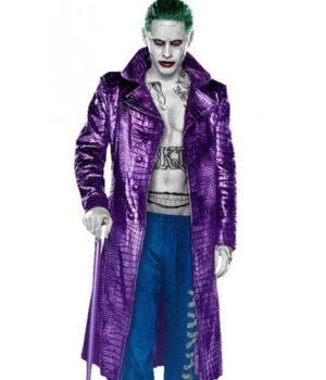 Suicide Squad Joker Crocodile PU Leather Coat