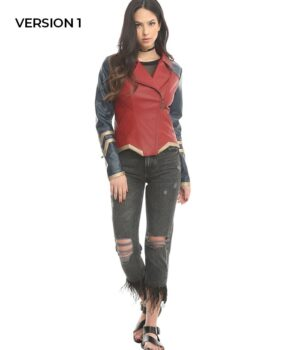 Diana of Themyscira Wonder Woman PU Leather Jacket