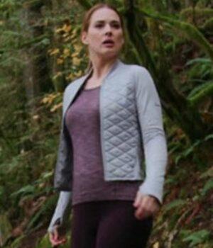 Melinda Monroe Virgin River S02 Quilted Satin Jacket