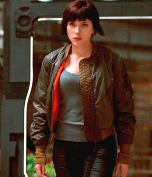 Ghost In The Shell Scarlett Johansson Satin Jacket