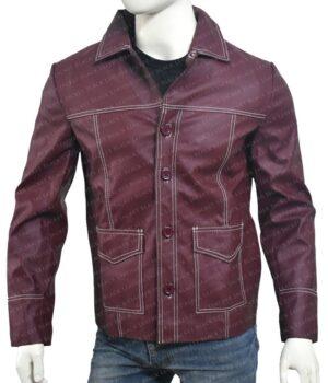 Tyler Durden Fight Club Brad Pitt Real Leather Jacket