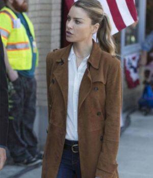 Lucifer Chloe Decker Wool Blend Brown Coat