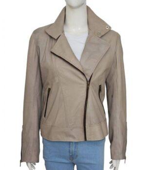 Chloe Decker Lucifer Leather Grey Jacket