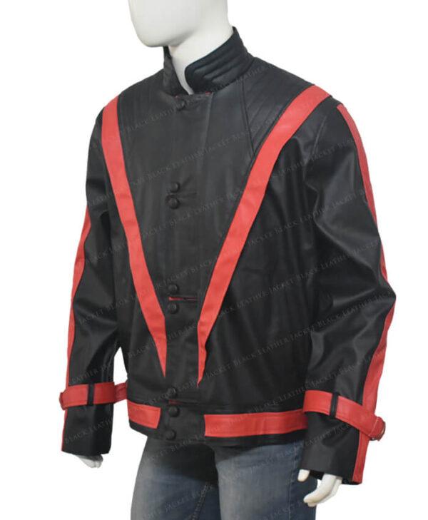 Michel Jackson Thriller Leather Black Jacket Right Side