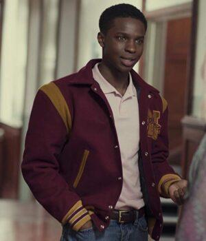 Sex Education Jackson Marchetti Fleece Varsity Jacket