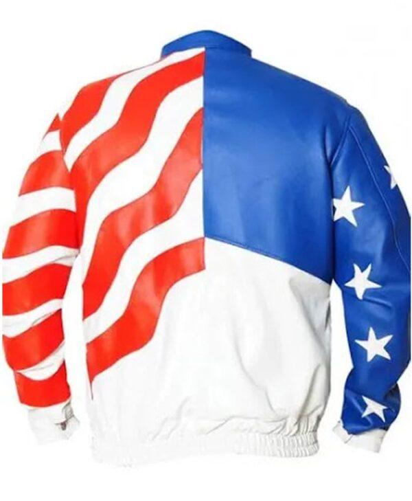 American Flag Vanilla Ice Faux Jacket