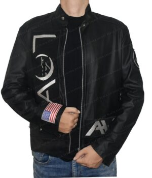 Tom Delonge Angle And Airwaves Leather Jacket Cuff Logo