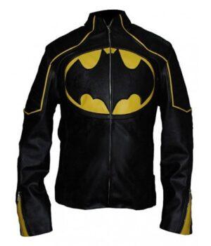 Batman Lego Black & Yellow Leather Jacket
