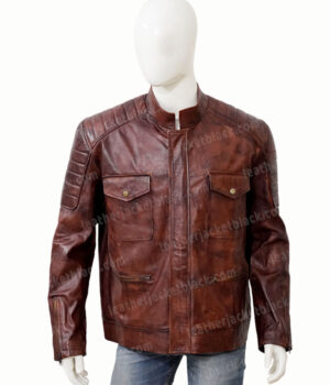 Boss Level 2021 Roy Pulver Brown Leather Jacket