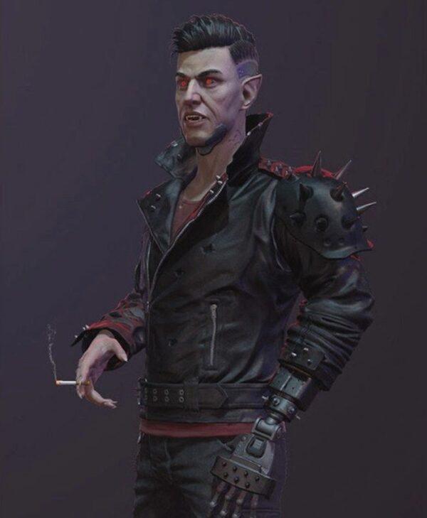 Cyberpunk 2077 Dracula Black Jacket With Studs