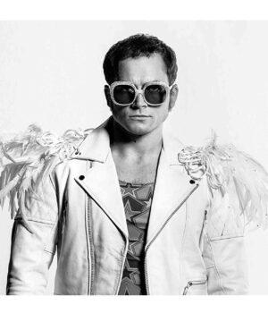 Elton John Rocketman Taron Egerton Leather Jacket