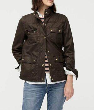 Good Girls Beth Boland Cotton Brown Jacket
