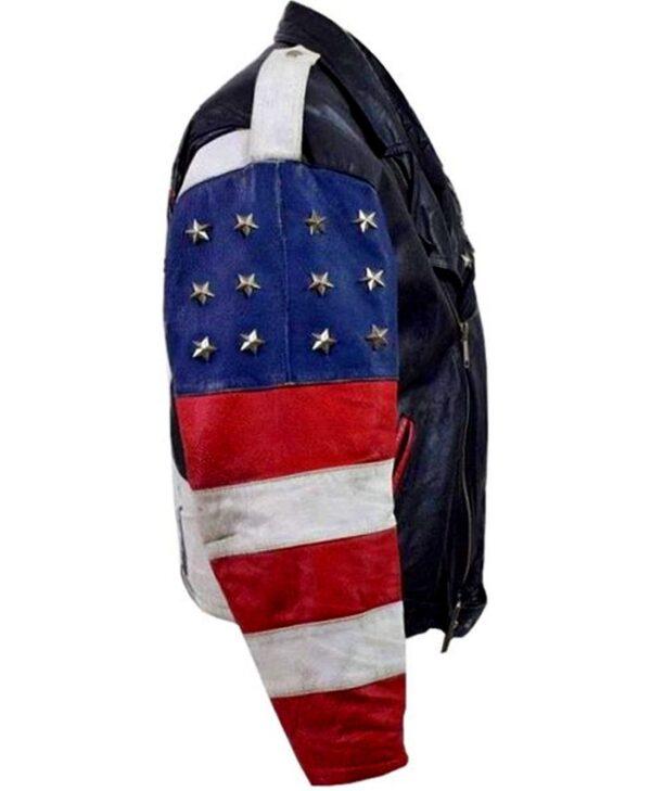Independence Day Stars Studded Vintage Jacket