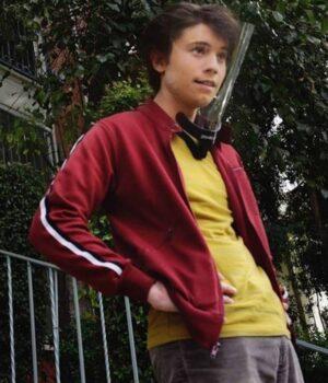 Love Victor Felix Weston Red Fleece Jacket