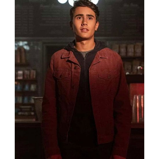Love Victor Michael Cimino burgundy Jacket side