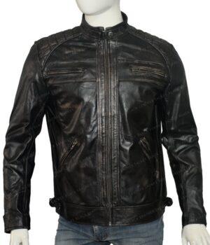 Men's Cafe Racer Real Vintage Leather Jacket