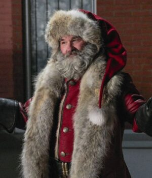 Kurt Russell The Christmas Chronicles Shearling Trench Coat