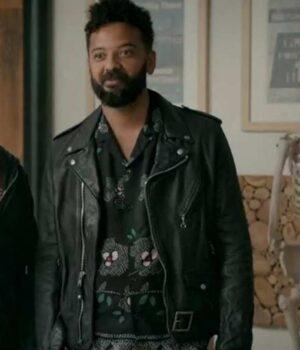 Shrill Amadi Real Leather Black Jacket
