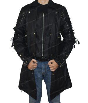 Steampunk Leather Shirt Style Collar Jacket Coat