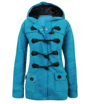 The Handmaids Tale Elisabeth Moss Blue Wool Coat
