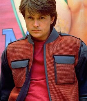 Marty McFly Back To The Future 2 Erect Collar Jacket